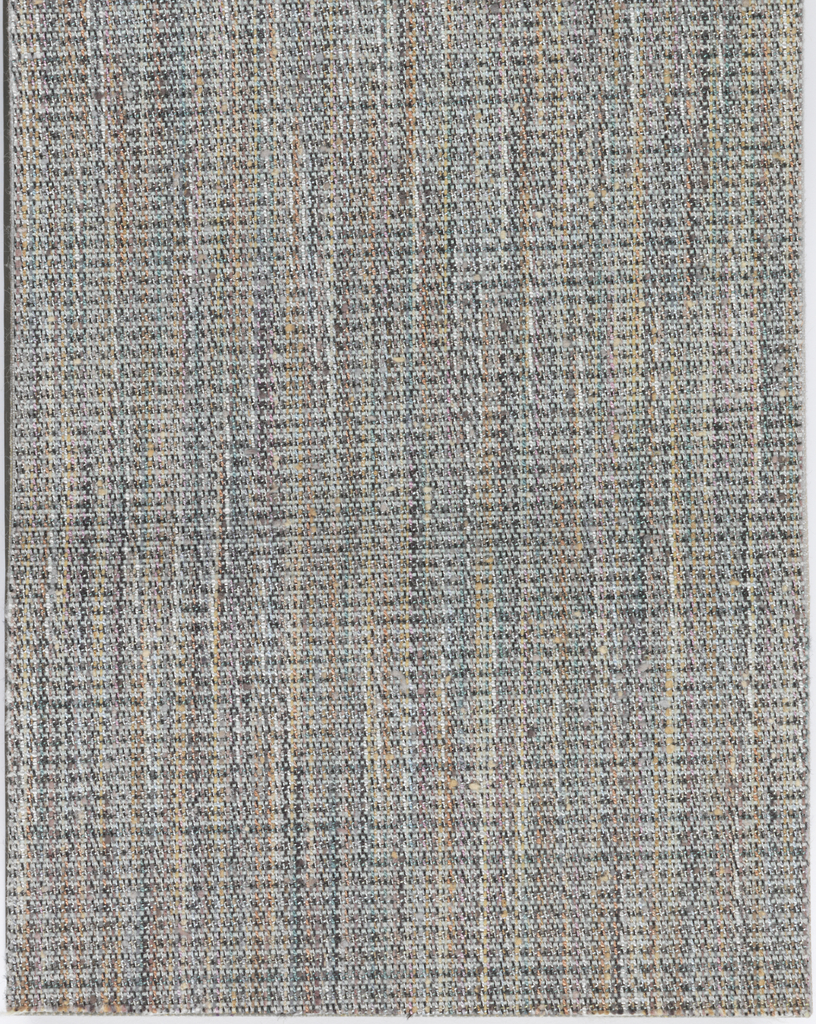 Bound woven wallcoverings containing 53 samples: ten different designs with each shown in multiple colorways. The collection contains the original six designs along with four new designs, including three by Jhane Barnes. The samples include Niji, Hashi, Toya, Billiards, Panama, Chelsea, Firenze, Eton, Eton Square, and Mojave.