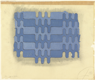 Drawing, Design for Textile: Interlocking Waves