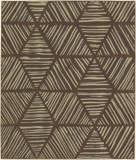 Radiating diamond shapes created by horizontal white stripes on brown paper. Negative space creates the outlines of the diamonds.