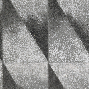 Drawing, Design for Textile: Interlocking Isosceles Triangles in Black Gradient