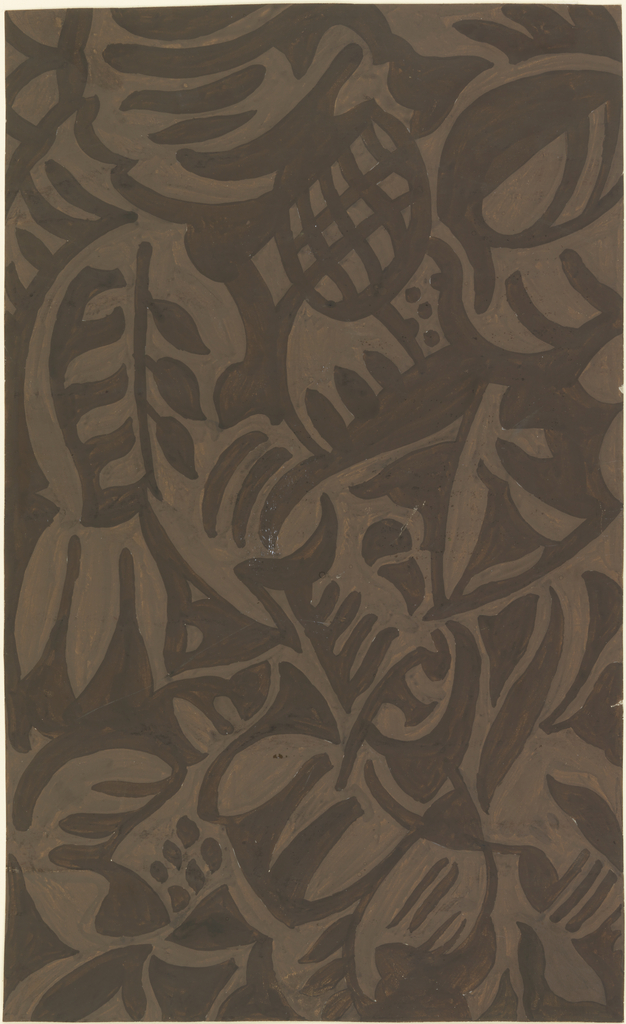 """Drawing, Design for Textile: """"Roselle"""""""