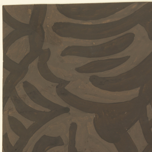 Drawing, Textile Design: Exotic Foliage, 1930s