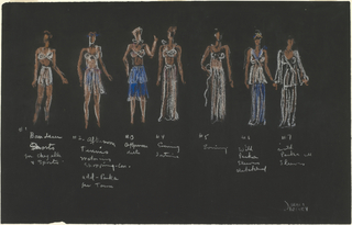 "Drawing, Designs for ""Fashions of the Future,"" Vogue Vol. 93, Iss. 3 (February 1, 1939)"