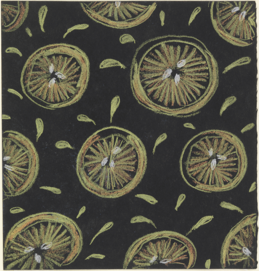 """Drawing, Design for Textile: """"Squirting Grapefruit"""""""