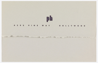 Envelope with name of enterprise printed across flap.