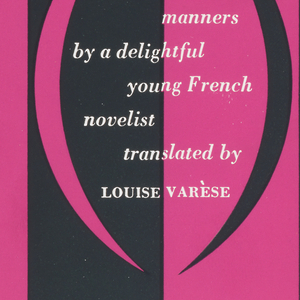 Book cover with magenta and black vertical stripes and magenta and black parentheses.