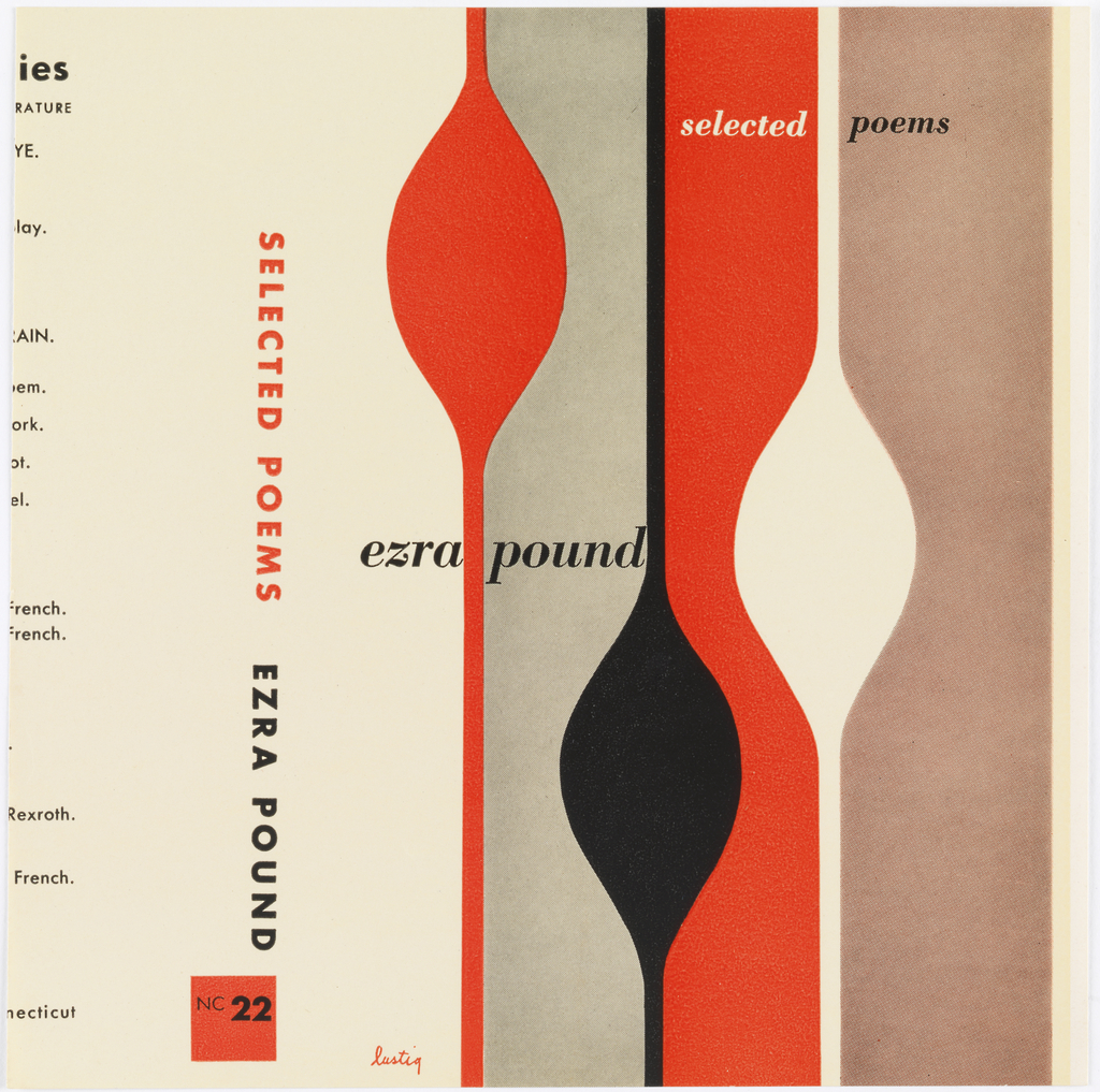Book Cover, Selected Poems by Ezra Pound, 1948 | Objects