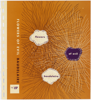 Bookjacket design. Design on orange ground. Cover depicts three amoeba shapes with thin, wavy lines radiating from them. Shape on upper left features white amoeba shape with black radiating lines and orange spots in center. At center right, purple amoeba shape with white radiating lines. At bottom center, white amoeba shape with black radiating lines and orange spots in center.