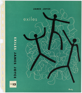 Bookjacket design in green and black ink. Front cover depicts three anthropomorphic forms comrpised of black lines surrounded by scribbles in thin white line.