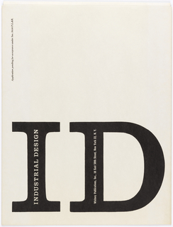 Envelope for ID magazine with enterprise name and address printed on lower half.