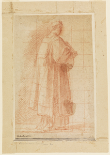Drawing, Standing Cleric Holding a Book