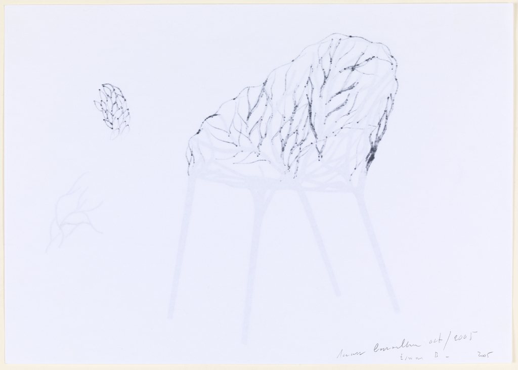 Drawing, Design for Vegetal Chair