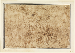 Drawing, Ascension of the Virgin