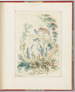 "Print, Ornamental Design from ""Nouvelle suite de cahiers arabesques chinois a l'usage des dessinateurs et des peintres"", No.1, Inventes et dessines par Jean Pillement. Graves par Anne Allen."