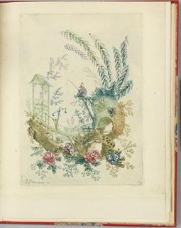 """Print, Ornamental Design from """"Nouvelle suite de cahiers chinois a l'usage des dessinateurs et des peintres"""" No.3, Inventes et dessines par Jean Pillement. Graves par Anne Allen."""