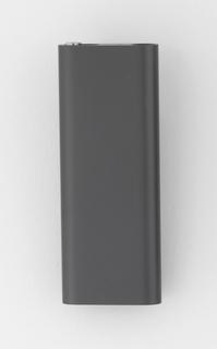 Black aluminum rectangular form.
