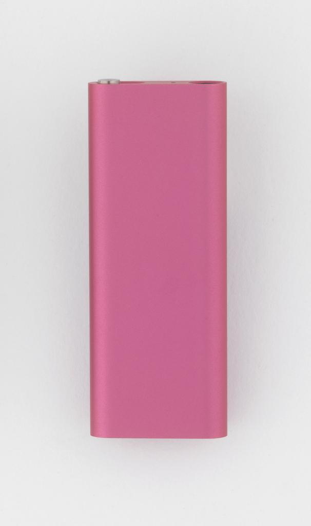 Pink aluminum rectangular form.