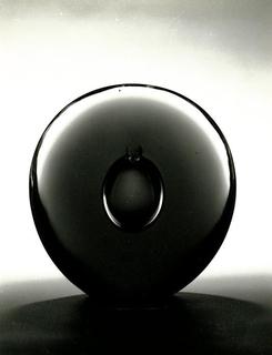 Dark purple and grey glass