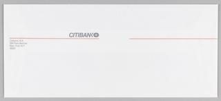 Print, Citibank envelope design