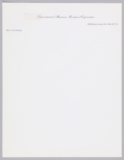Print, IBM Letterhead