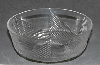 Triangular ridged pattern.  Bowl
