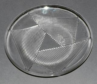 Triangular ridged pattern.  Plate