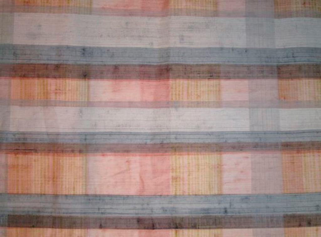 Very subtle striped effect combined by overlaying transparent shades of pink, yellow green, pale blue and gray.