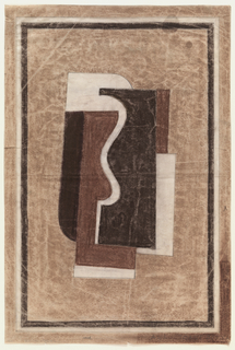 Drawing, Design for Rug: Cubist Motif