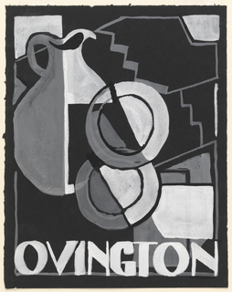 Drawing, Design for Ovington Pottery Advertisement