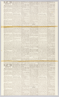 "On white, enlarged black news-type, reproduction of the newsprint of the Civil War era newspaper ""The Daily Citizen"", Vicksburg, Mississippi, Thursday July 2, 1863 and July 4, 1863."