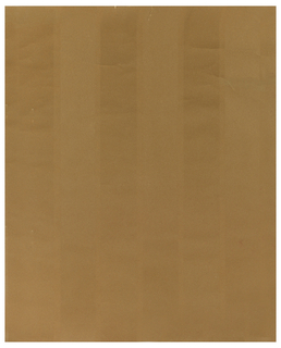 Six vertical stripes of two different widths, alternating, in a suede-like finish; printed in three shades of ochre.