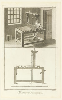 """Print, Plate IV of """"Travail et emploi du Coton"""" from Diderot's Encyclopia, Vol. I"""