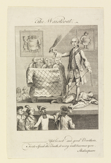 Print, The Waistcoat (Caricature on the Fashion of Waistcoats)