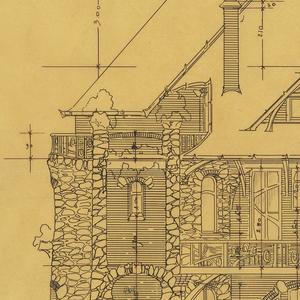 Drawing, Design for Rear Elevation, Castel d'Orgeval, Parc Beauséjour, Paris, France