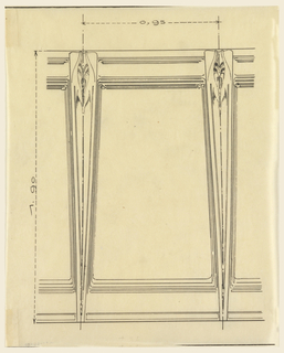 Design for architectural panel for the Exposition des Arts Decoratifs. Drawing shows panel in detail with scale noted.