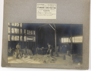 Photograph, Photograph of the Construction of a Mass-Operational House Designed by Hector Guimard (No.1)