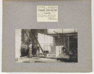 Photograph, Photograph of the Construction of a Mass-operational House Designed by Hector Guimard (No. 36)