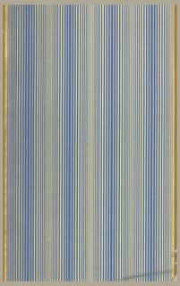 Vertical gold and blue stripes on ungrounded paper.
