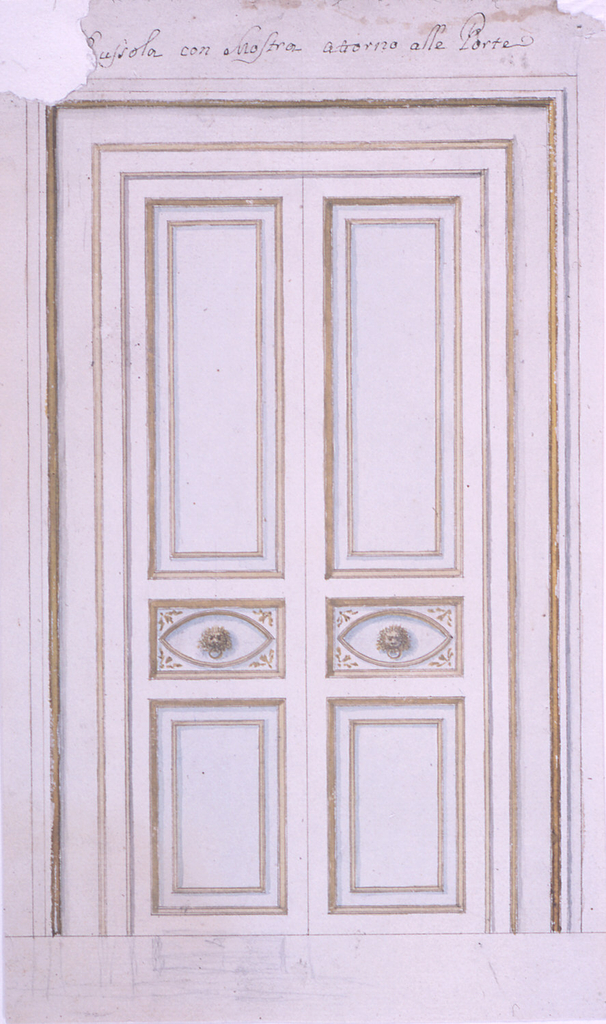 Drawing, Carved door, ca. 1780