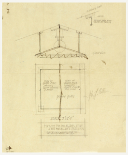 Design for light fixture with two different views.
