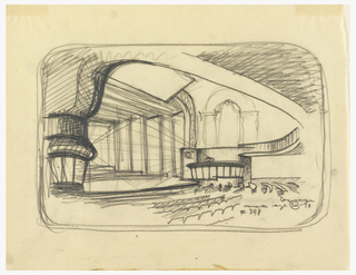 Drawing, Avon Theater, 251 West 45th Street, New York, NY: Design for Alteration to Radio Broadcasting Facility for Columbia Broadcasting System