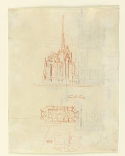 Drawing, Design for Heinz Chapel, University of Pittsburg