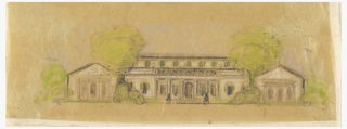 Drawing, Concept Drawing for Blair House, Residence of William McCormick Blair, Lake Forest, Illinois