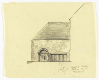 Drawing, Entrance Elevation of the Exterior of a Proposed Chapel for Trinity Church, Boston, Massachusetts