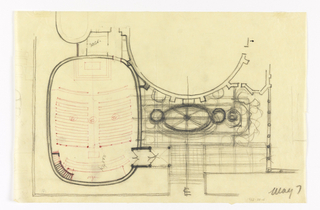 Drawing, Ground Plan of Proposed Chapel for Trinity Church, Boston, Massachusetts