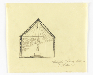 Drawing, Cross-Section of a Proposed Chapel for Trinity Church, Boston, Massachusetts