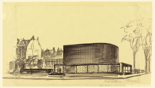 Drawing, Proposed Design for the First Lutheran Church, Boston, Massachusetts