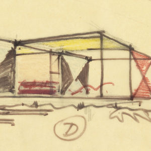 Drawing, Proposed Cottage for Kirk Wilkinson, Wellfleet, MA