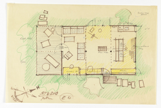 Drawing, Ground Plan of Architect's Own Studio at Wellfleet, MA