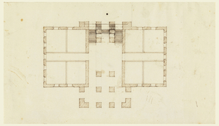 Drawing, Alternate Scheme for Ground Floor Plan of a Country House
